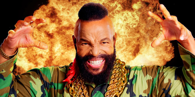 Mr. T in fire