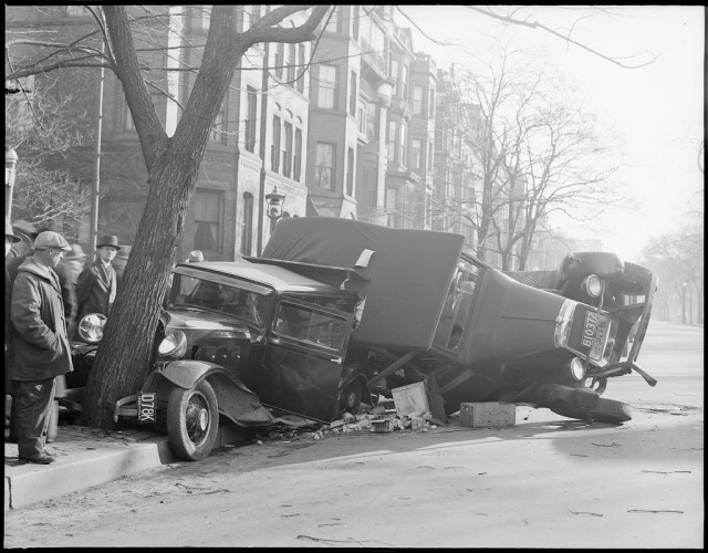 1930s Auto Accident Photos by Leslie Jones