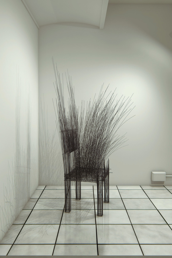 Wire sculptures by David Moreno