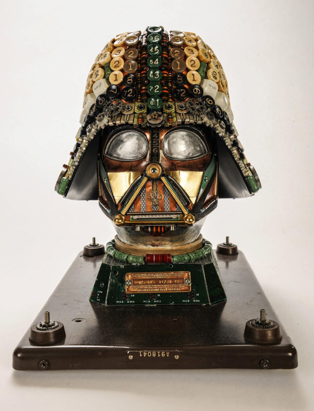 Darth Vader Upcycled Mask by Gabriel Dishaw