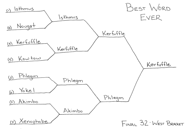 Best Word Ever Final 32 - West Bracket by Ted McCagg