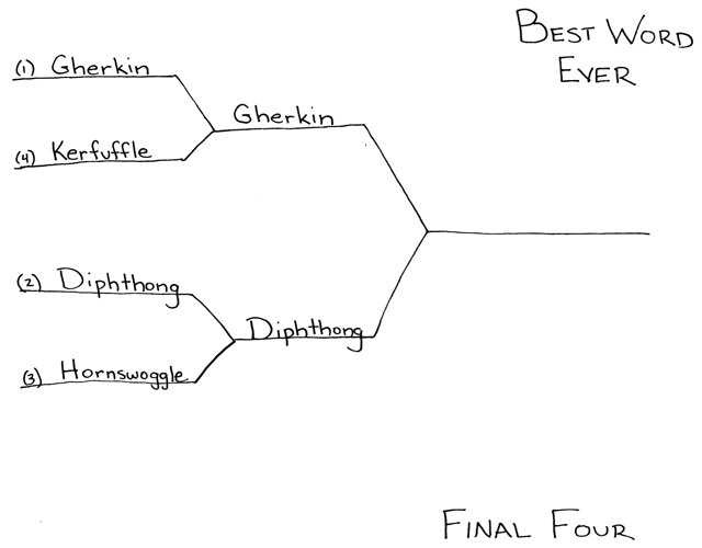 Best Word Ever Final Four by Ted McCagg