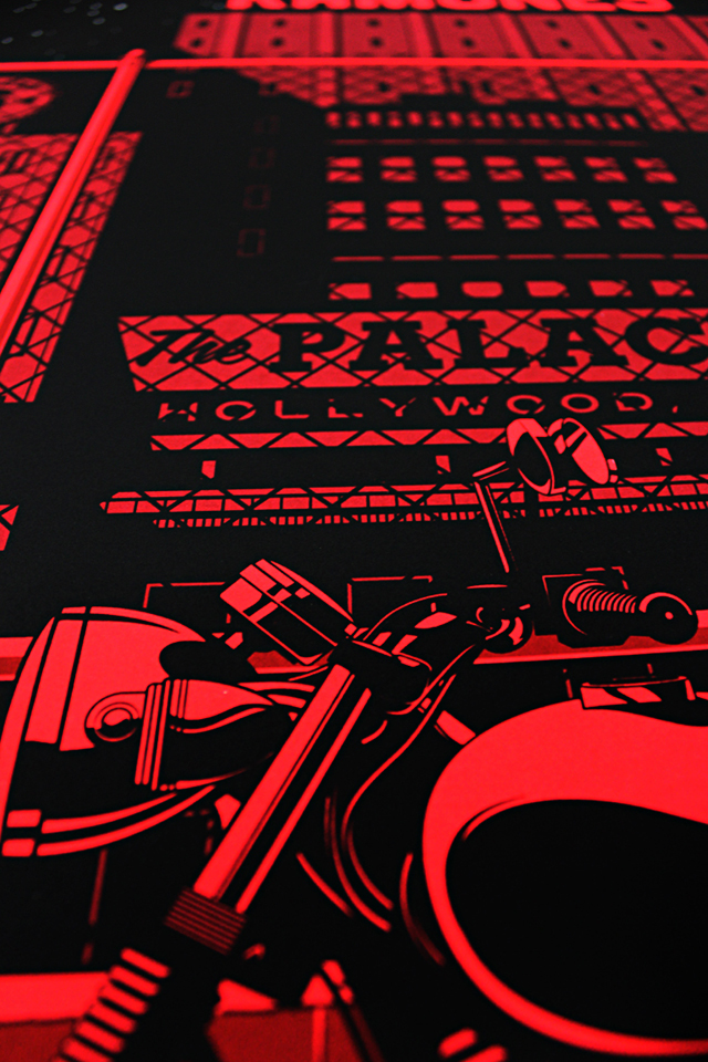 Ramones Screen Printed Gig Poster by Kevin Tong