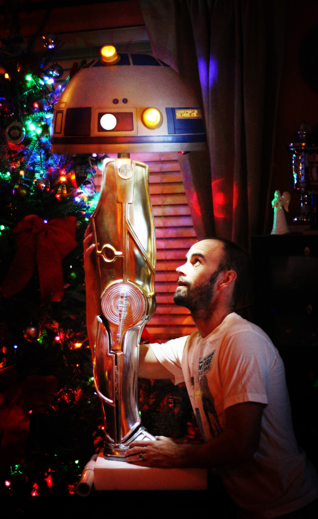 Star Wars Christmas Story Crossover Leg Lamp by Gordon Tarpley