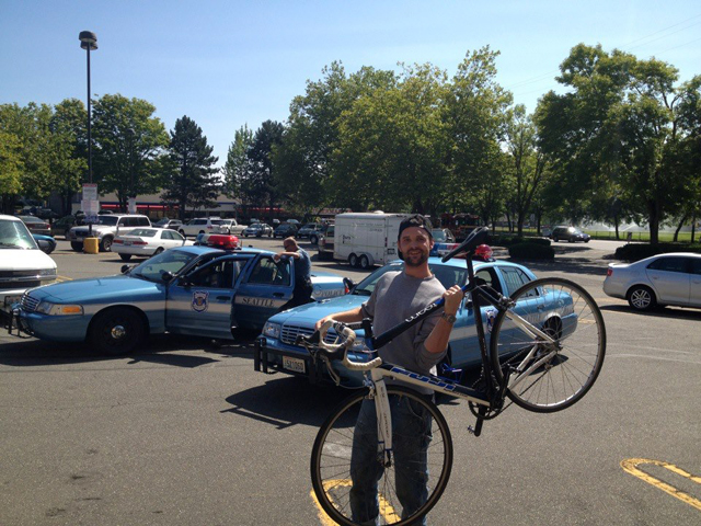 Jake Gillum Celebrates His Bike Sting Operation Success