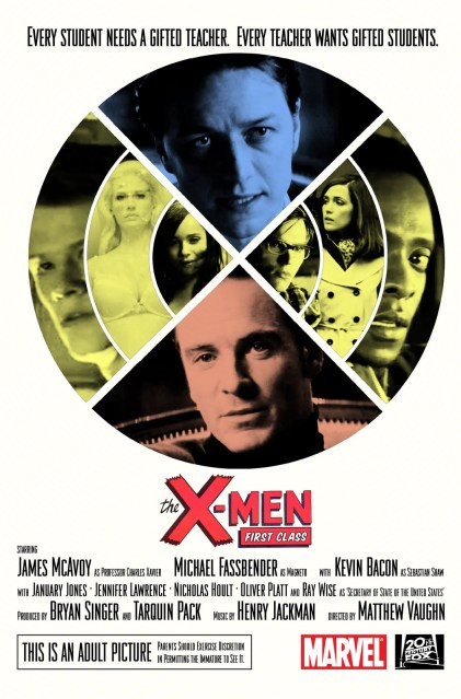 X-Men: First Class Poster, Super Punch fan design contest winner by Clyde Bailey