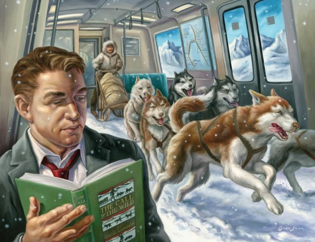 Literary Journeys BART art posters by Owen Smith