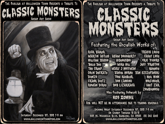 Tribute to Classic Monsters, A Group Art Show Featuring Rick Baker & Rob Zombie