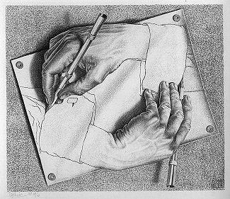 Drawing Hands by MC Escher