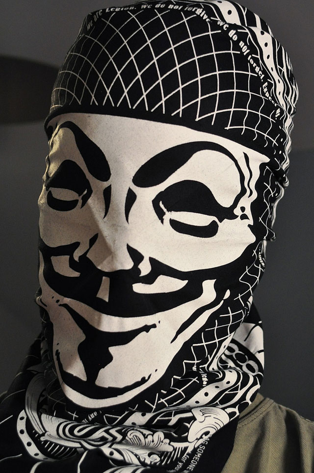 Guy Fawkes bandana for occupy protestors by Matthew Borgatti