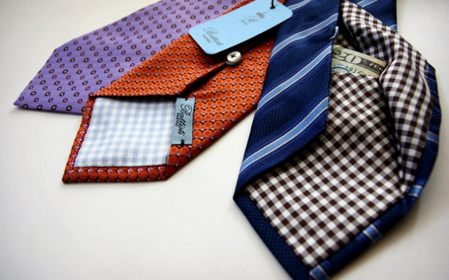 Hidden pocket neckties by Battisti Napoli