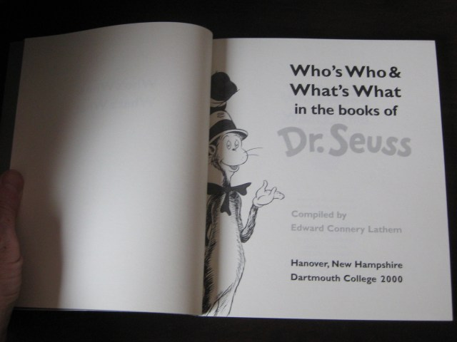 Who's Who & What's What in the Books of Dr. Seuss title page