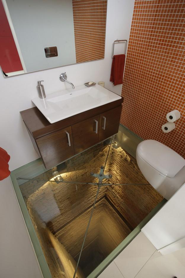 Elevator Shaft Bathroom