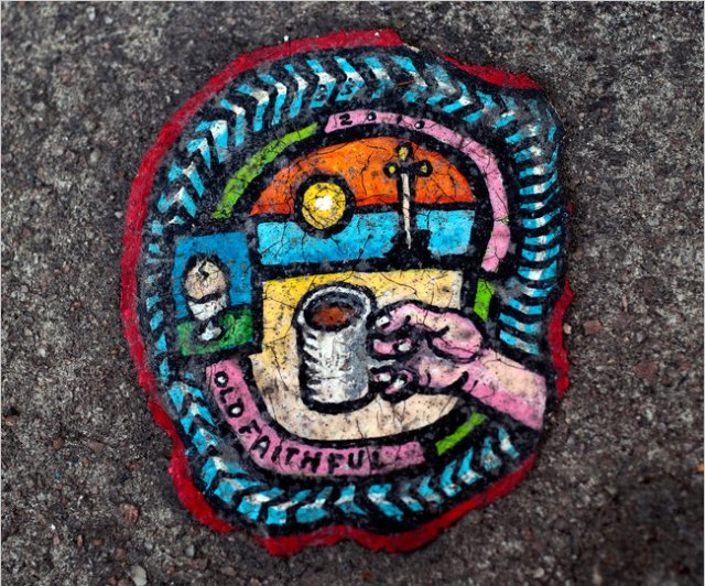 Chewing Gum Paintings by Ben Wilson