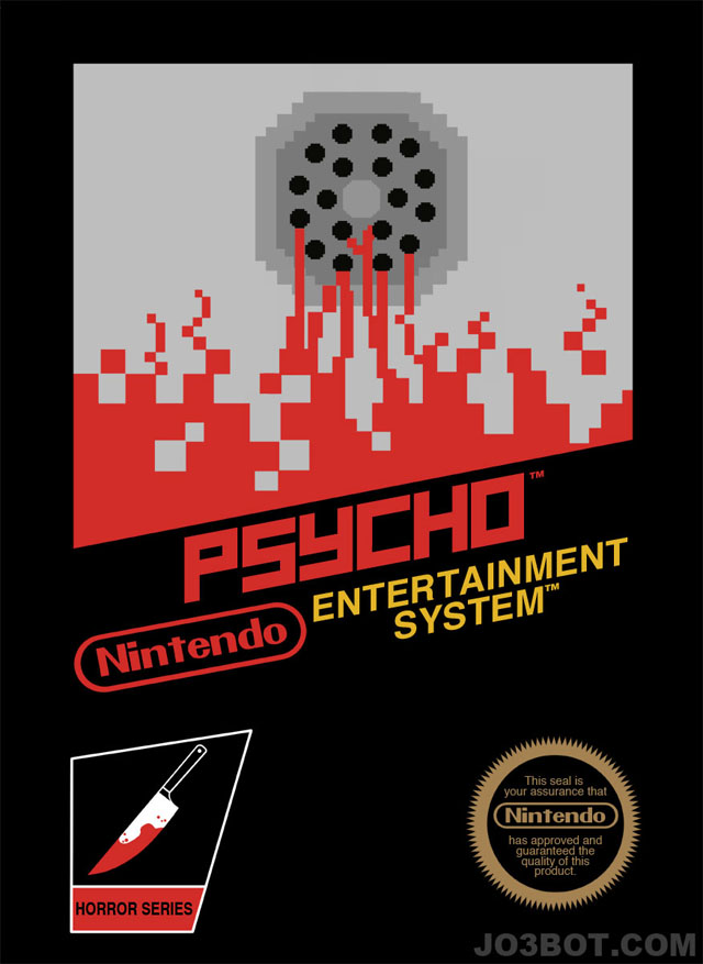 Alfred Hitchcock Movies as Nintendo Games by Joe Spiotto