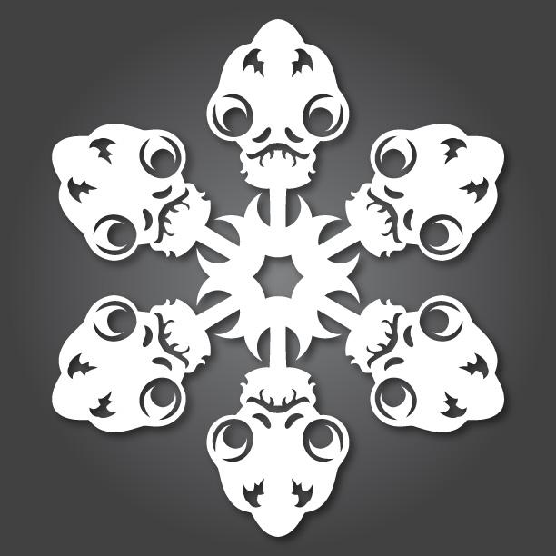 Admiral Ackbar - Star Wars Snowflakes 2012 by Anthony Herrera