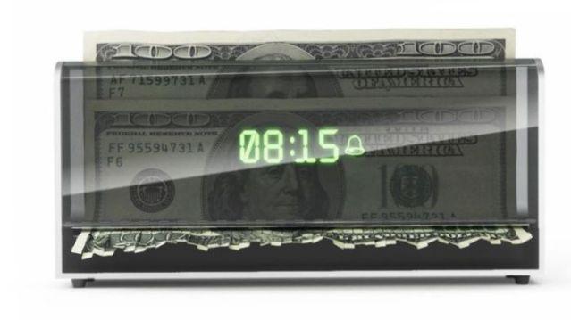 Money Shredder Alarm Clock
