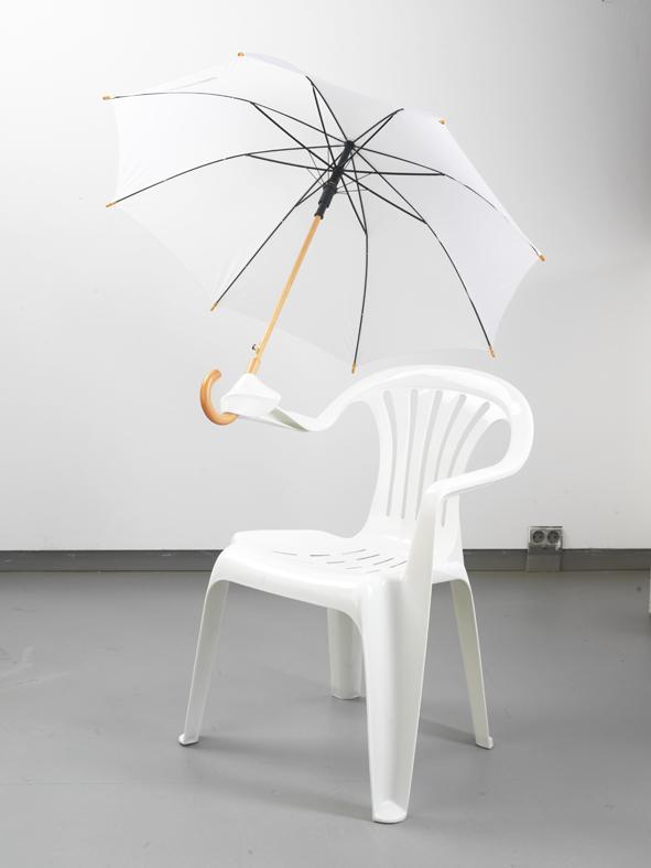 Plastic Chair Sculptures by Bert Loeschner
