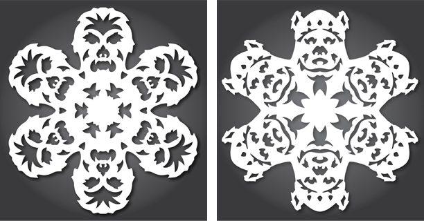 Chewbacca / Ewok - Star Wars Snowflakes 2012 by Anthony Herrera