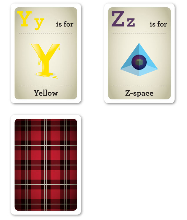 Design Nerd Flash Cards Y-Z by Emma Cook