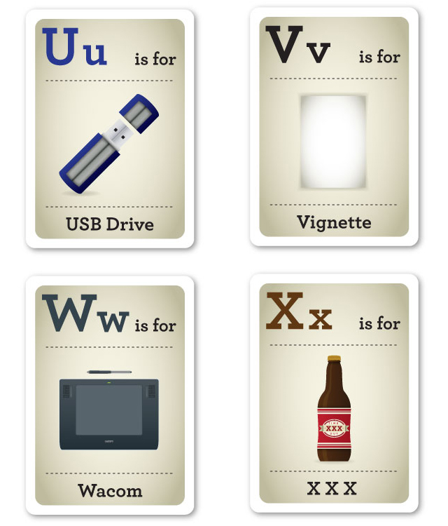 Design Nerd Flash Cards U-X by Emma Cook