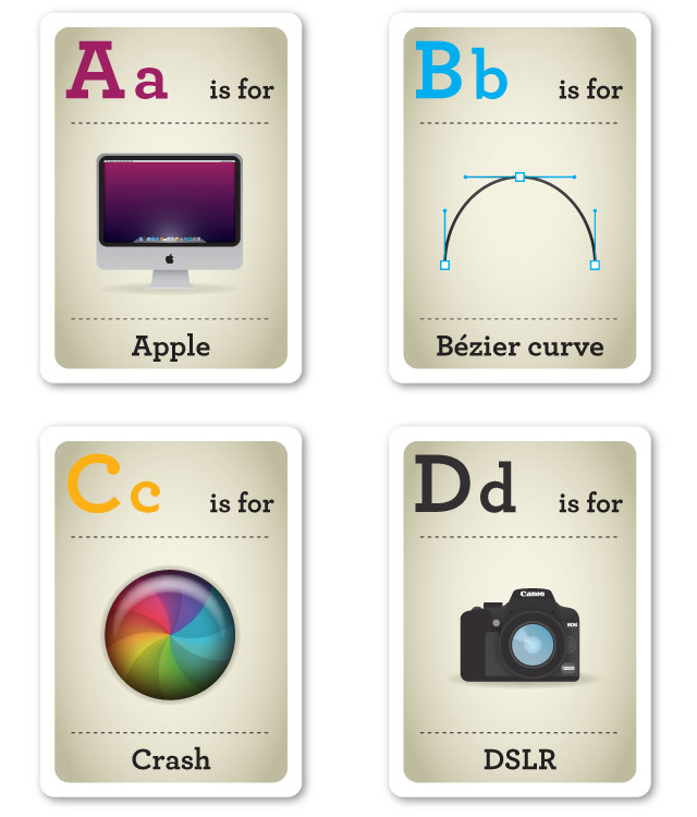Design Nerd Flash Cards A-D by Emma Cook