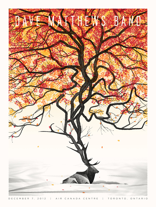 Dave Matthews Band Toronto Poster by DKNG Studios