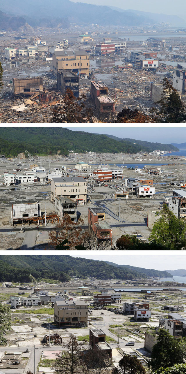 Before and After Photos of 2011 Japan Earthquake and Tsunami Destruction