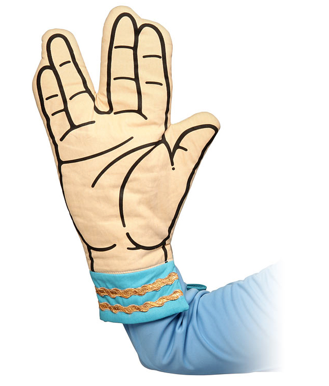 Star Trek Spock Oven Mitt at ThinkGeek