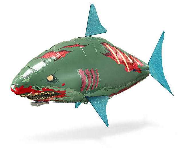 Air swimmer remote control inflatable flying zombie shark for Remote control flying fish