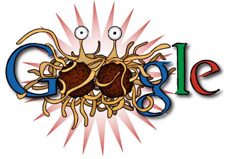 Flying Spaghetti Monster Google Doodle