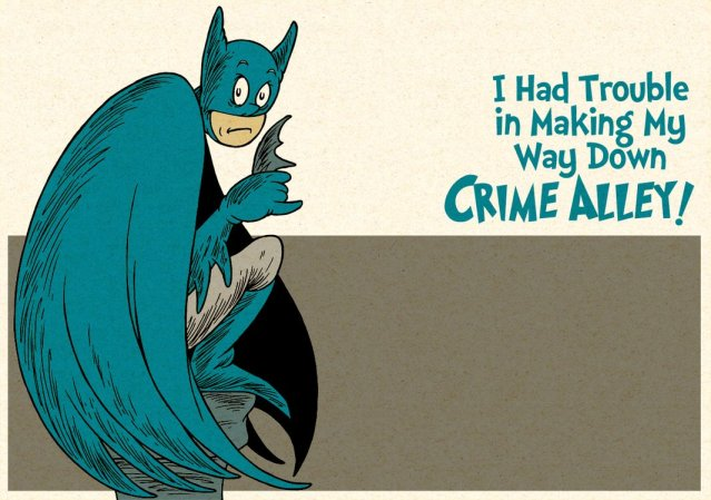 Batman in the Style of Dr. Suess by DrFaustusAU