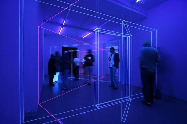 UV Light Thread Installations by Jeongmoon CHoi