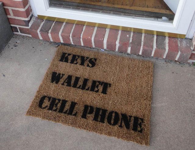 Keys Wallet Cell Phone Door Mat by Spoon Popkin