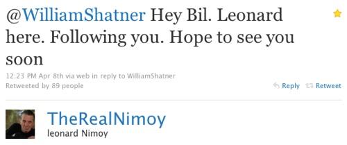 Leonard Nimoy on Twitter
