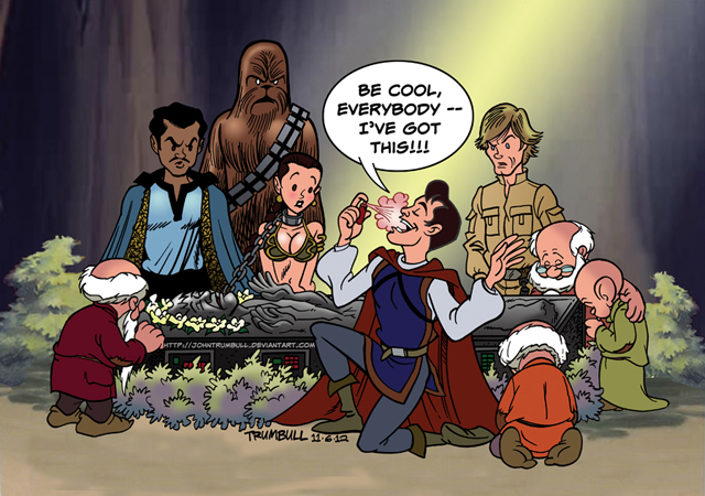 Prince Charming meets Han Solo! by John Trumbull