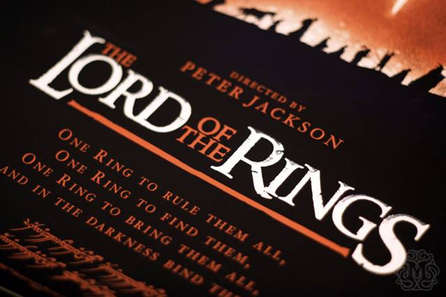 The Lord of The Rings Poster Design by Olly Moss