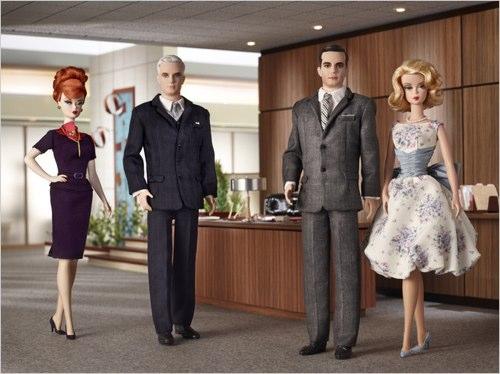 Mad Men Barbie & Ken Dolls