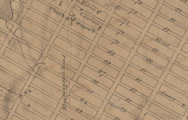 Manhattan Street Grid 1811