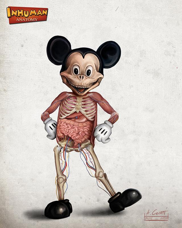 Mickey Anatomy by Alessandro Conti
