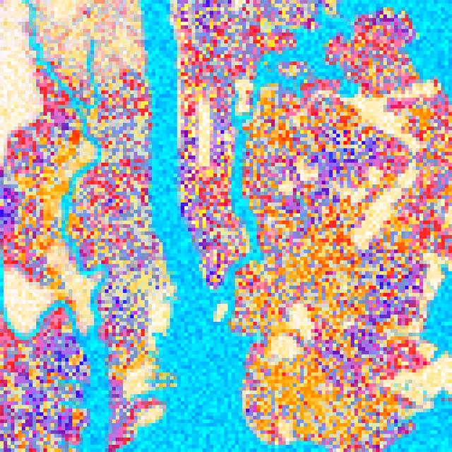 Lego New York (color map) by JR Schmidt