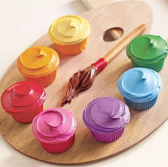 Painter Palette Cupcakes