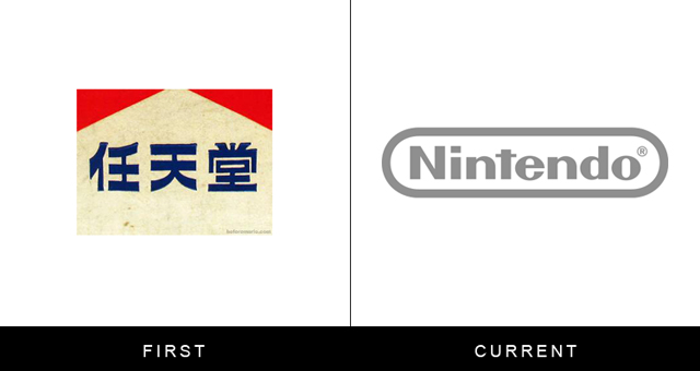 Original and Current Nintendo Logo