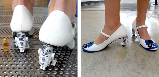 R2D2 heels by mikeasaurus