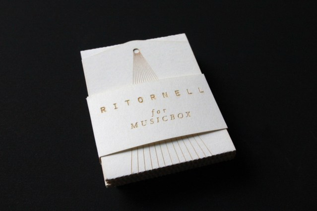 Music box business card by Katharina Holzl