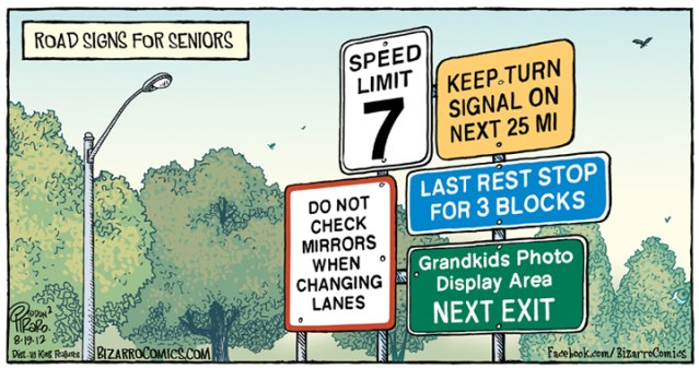 Road Signs For Seniors
