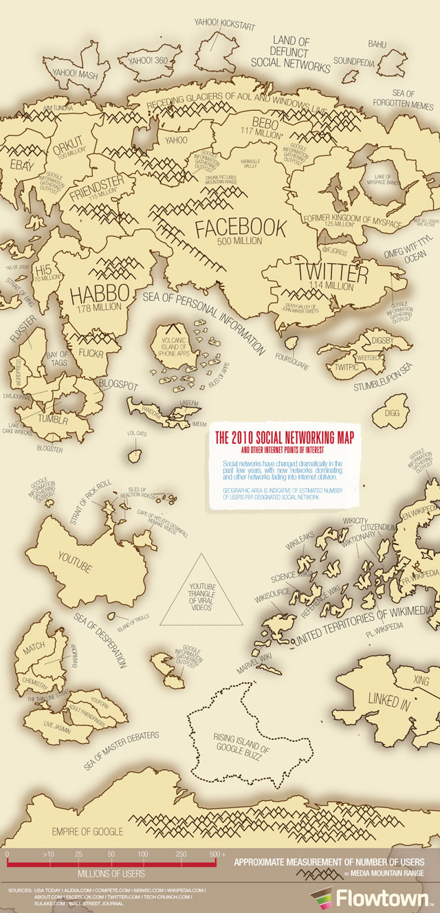 2010 Social Networking Map
