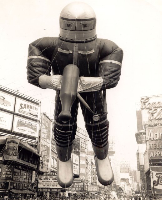 Giant Spaceman in Macy's Thanksgiving Day parade