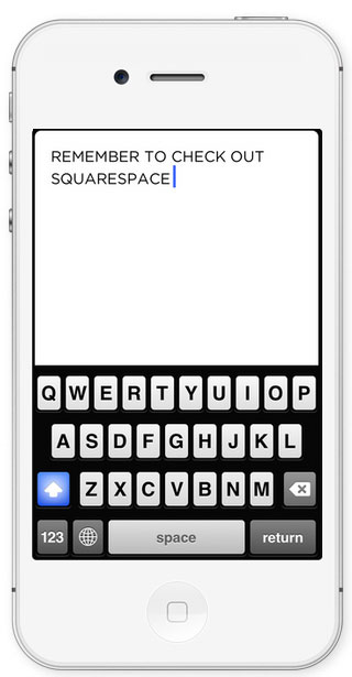 Squarespace Note