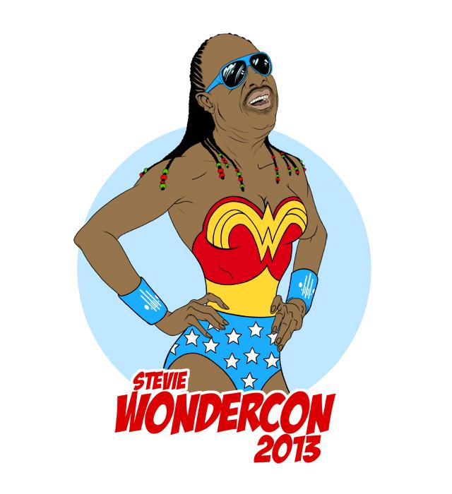 Stevie WonderCon by Alex Pardee